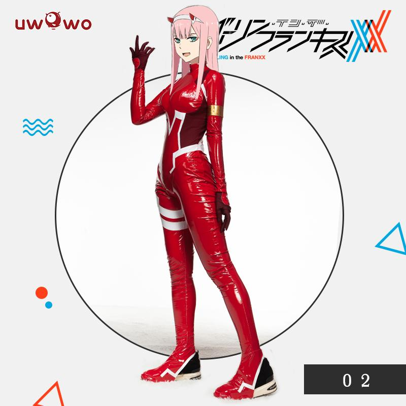 Sexy Cosplay 002 Bodysuit Defective Costume DARLING In The FRANXX Costume Zero Two CODE Plug Suit(China)