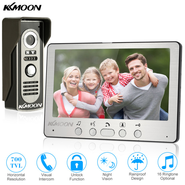 KKmoon 7u0027u0027 TFT LCD Wired Video Door Phone Visual Video Intercom Speakerphone Intercom System  sc 1 st  AliExpress.com & KKmoon 7u0027u0027 TFT LCD Wired Video Door Phone Visual Video Intercom Speakerphone Intercom System With Waterproof Outdoor IR Camera-in Video Intercom from ...