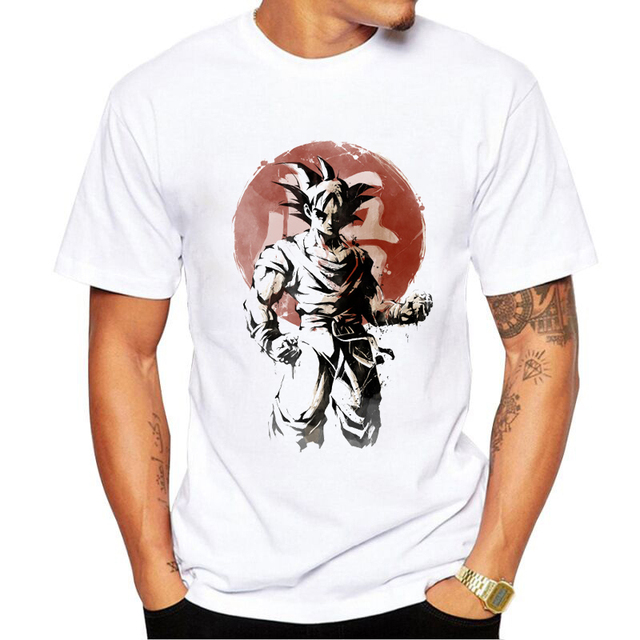Fashion Anime Son Goku T Shirt Dragon Ball Z Comics T-shirt Young  Characters Tshirt Style Cool Printed Unisex Tee b8409627b