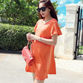 2017 Fashion Short-Sleeve Spring And Summer Maternity Dress 100% Cotton Maternity Clothing Clothes For Pregnant Women Clothing
