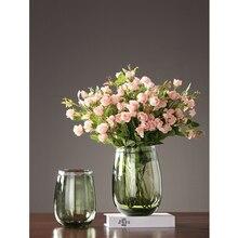 Modern Glass Vase Crafts ornaments Simple Transparent glass terrarium flower vase centerpieces for weddings home decoration