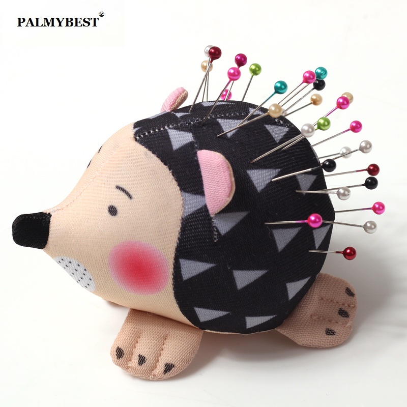 Hedgehog-Shape-Cute-Sewing-Pincushion-with-Soft-Cotton-Fabric-Pin-Cushion-Pin-Patchwork-Holder-Arts-Crafts