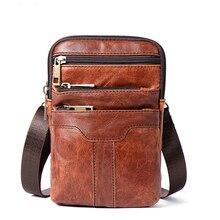 лучшая цена Genuine Leather Belt Bag Men Phone Pouch Bags Fashion Waist Packs Fanny Pack New Travel Waists Pack Male Waist Bag