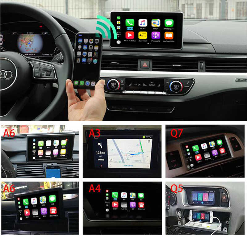 Sinairyu Wireless Apple CarPlay Video Interface Solution for A4 A5 B8 Q5  Without MMI With Audi Concert Symphony Model