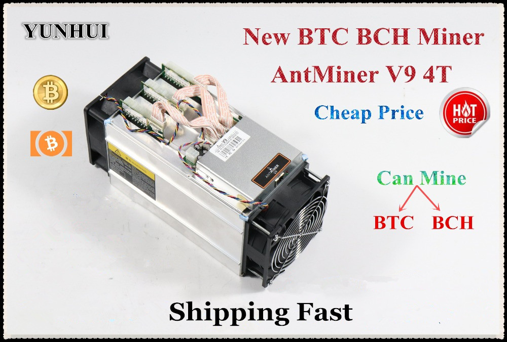 Newest AntMiner V9 4TH/S Bitcoin BCH BTC BCC Miner Without Power Supply Better Than Antminer S9 Ebit E9 Whatsminer M3