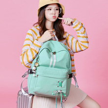 Women External USB Charging Casual Backpack Ladies Canvas Backpacks for Girls Students Laptop School Bags Backpack for Teenagers 2017 canvas preppy backpack miyazaki hayao hot anime totoro mochila women backpacks students school bags for teenagers girls