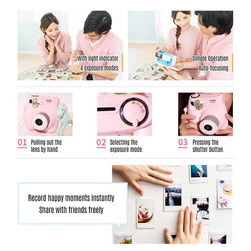FUJIFILM Instax Mini7c MINI 9 Mini Film Kamera Instan Kamera Instax Mini 7S Mini9 Ulang Tahun Hadiah Tahun Baru Natal