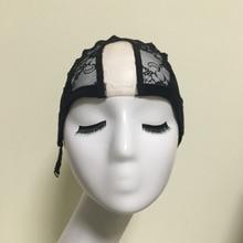 Asycap Airnets Luelessลูกไม้วิกผมหมวกสำหรับการทำวิกผมที่มีปรับสายรัดทอผ้าหมวกสำหรับผู้หญิงผมสุทธิและH 6024