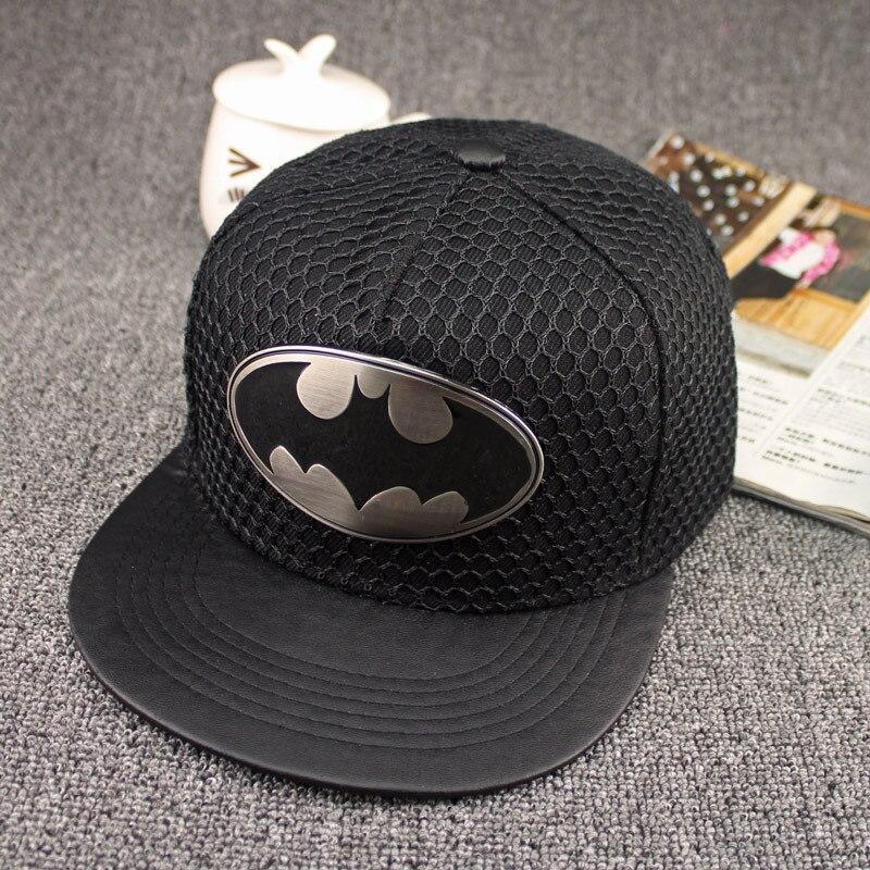 Prix pour New Hot Snapback Plat Le long du Chapeau Réglable Batman Casquette de baseball Unisexe Cowboy Hip-Hop Chapeau de Soleil 5 Couleurs Livraison Gratuite