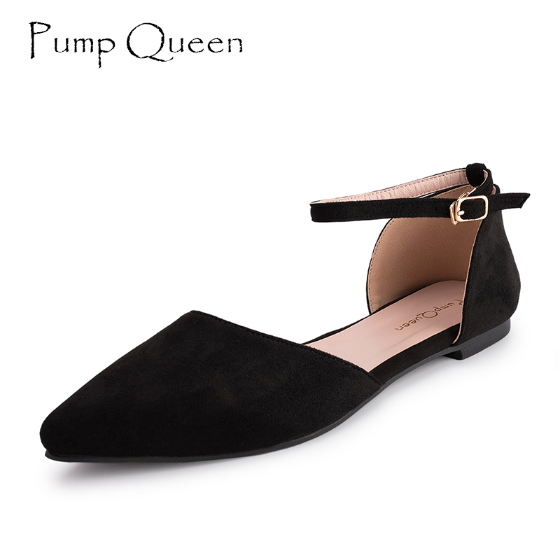 Women Flats Shoes Black 2018 Spring Autumn Ankle Strap Shoes for Woman Mary Jane Good Match With Dresses Pants Plus Size 40 plus size pants the spring new jeans pants suspenders ladies denim trousers elastic braces bib overalls for women dungarees