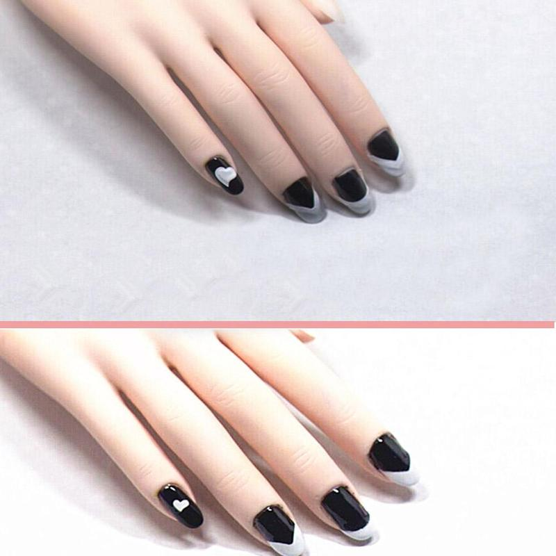 18 Sheetsset French Style Nail Manicure Hollow Stencils Sticker Diy