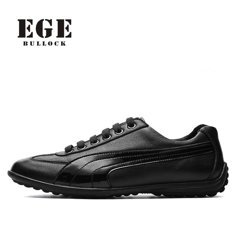 Здесь можно купить   EGE New Arrival Fashion Men Casual Shoes,Handmade High Quality Genuine Leather Male Flats,Breathable Soft No-slip Sole Shoes Обувь