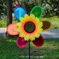 Цветная случайная ветряная мельница для подсолнуха 3D игрушка на лужайке для украшения дома и сада
