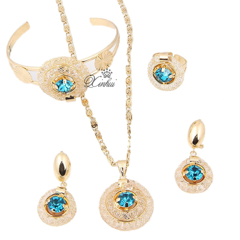Hot sale african costume jewelry sets18k gold plated meshy for Decor jewelry