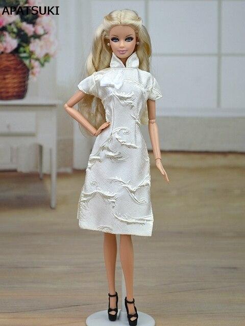 Handmade Chinese Traditional Dress Vestido Dress For Barbie Cheongsam High  Neck Qipao Unique Evening Dresses 47e574e9b1d0