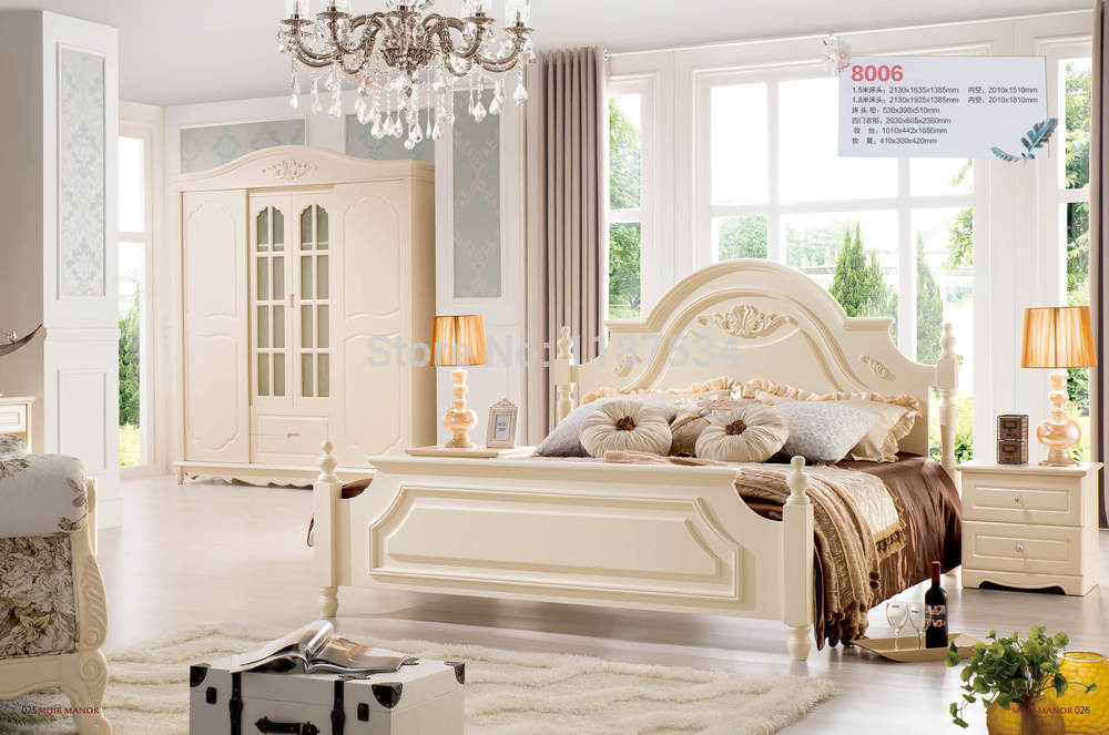 Factory price Bedroom Furniture luxurious King size princess bed ...