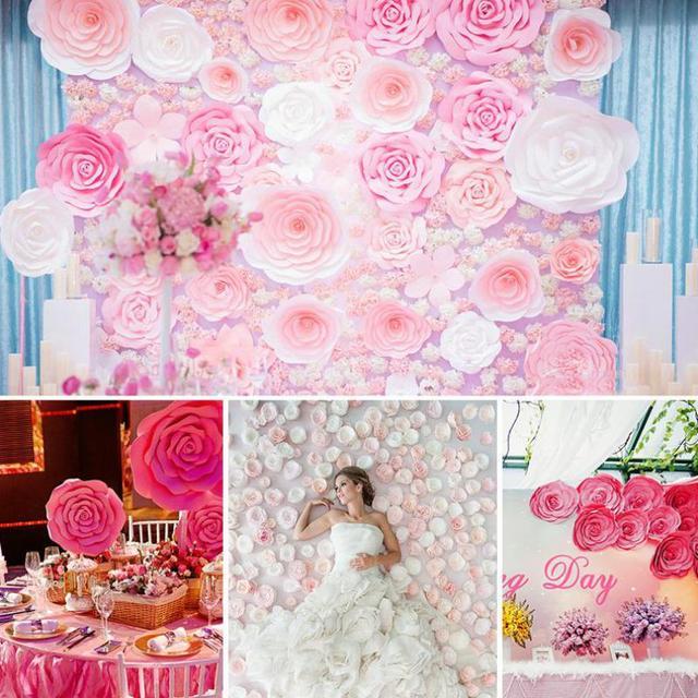1 piece large size 40cm handmade cardboard paper rose flower for 1 piece large size 40cm handmade cardboard paper rose flower for wedding backdrops background deco windows mightylinksfo