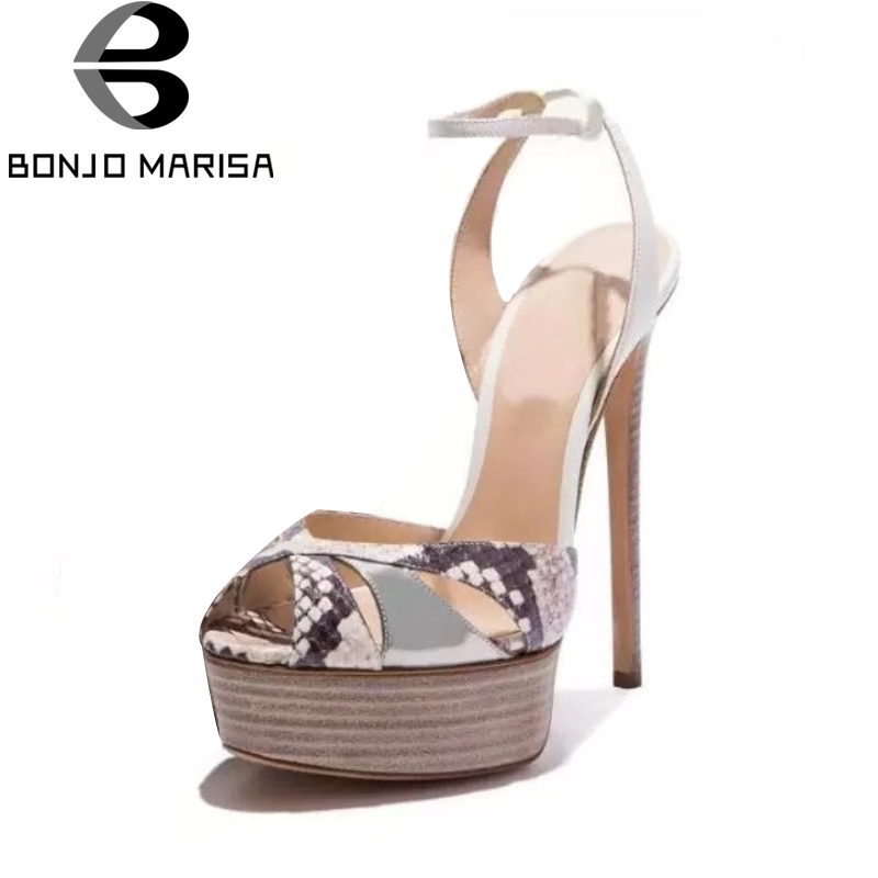 BONJOMARISA Top Quliaty Large Size 33-43 Brand Design Thin High Heel Sandals Summer Shoes Woman Sexy Party Women Shoes bonjomarisa women s high heel wedge