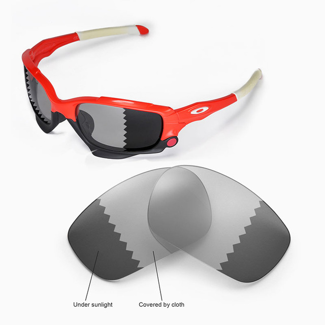 Walleva Polarisées Transition Photochromiques Lentilles De Remplacement  pour Oakley Jawbone Veste De Course Lunettes a98e3a92fde5