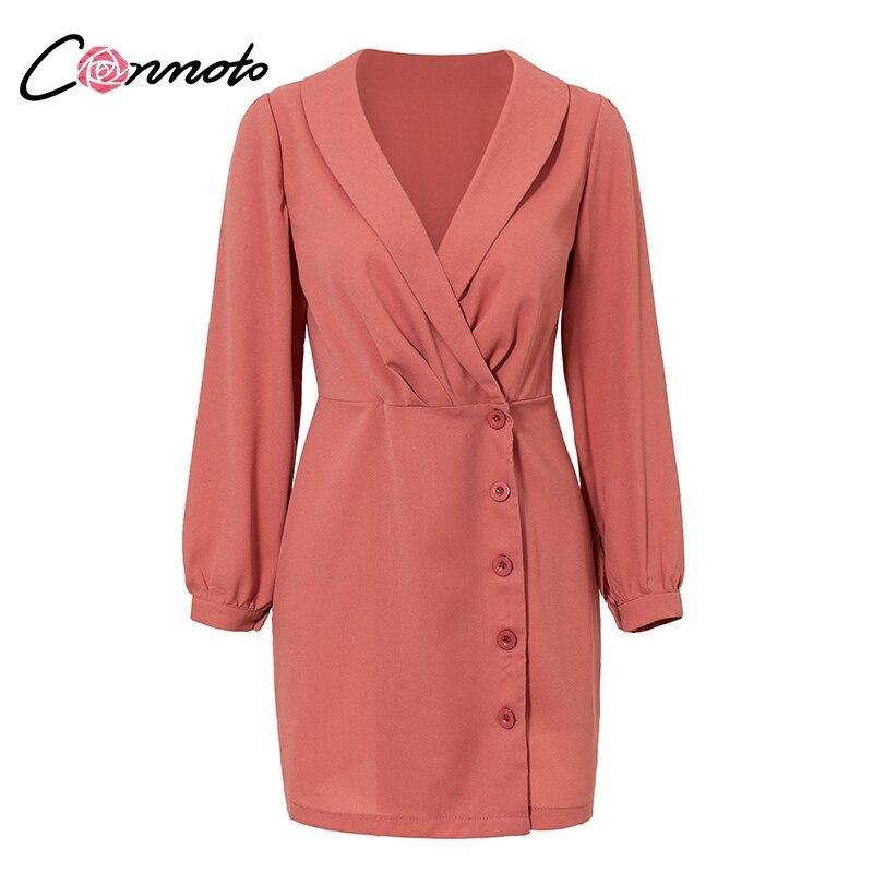 2019 Fashion Conmoto Long Sleeve Winter Mini Blazer Dress Women Office Lady Elegant Dresses 2018 Casual Party Dress Vestidos Women's Clothing