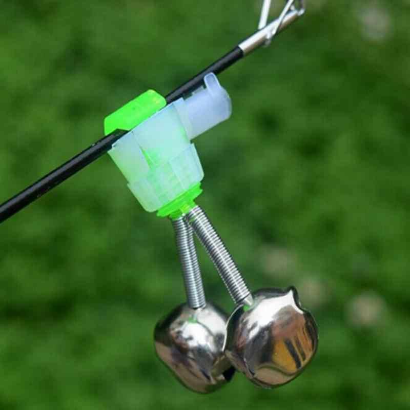 10 Stks/set Twin Spiraal Bells Vissen Beetverklikkers Outdoor Night Karper Hengel Tip Clips Tool Accessoires Peche