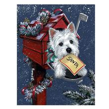 Christmas puppy living room decoration drawing diamond painting cartoon 5d DIY embroidery wall stickers