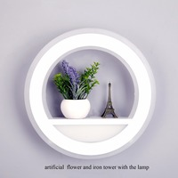 29W Wall Lamp Dimmable Light With Flower Tower AC220V Segment 2 4G RF Remote Control LED