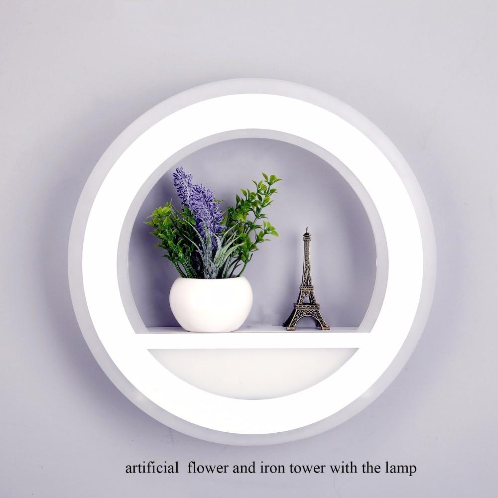29 Вт настенный светильник с регулируемой яркостью, светильник с цветочной башней 220В, сегмент 2,4 г, радиочастотный светодиодный настенный светильник с дистанционным управлением для спальни, гостиной