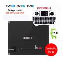 Mejor MECOOL KI PRO Caja de la TV DVB-S2 y DVB-T2/C S905D Amlogic Quad 2 GB/16 GB Bluetooth 4.1 2.4G/5G Dual WIFI Set Top Box Android TV Box