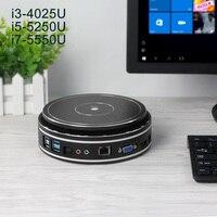 Nowest золотой мини компьютер Windows 10 мини ПК Intel Core i7 5550U i5 5250U компьютер мини HDMI VGA WiFi USB Настольный ПК