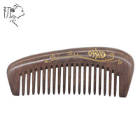 Pure Handmade Wide Wood Comb Designer Professional Health Care Massage Whole Wooden Small Green Sandalwood Hair