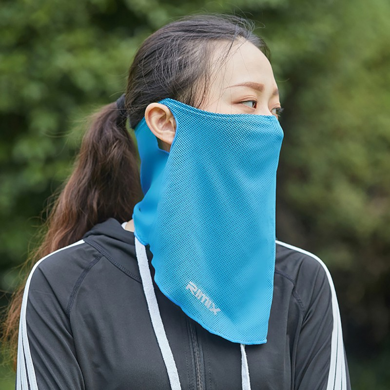Outdoor Face Mask Breathable Sunshade Sweat Absorption Polyester Mouth Protector Headwear