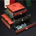 Nueva Decorativo Cajas de Cosméticos Bolsa de Maquillaje Mujeres Caso Libro de Estilo Clásico De Madera de Almacenamiento De Cosméticos Joyas Caja de Regalo de Navidad