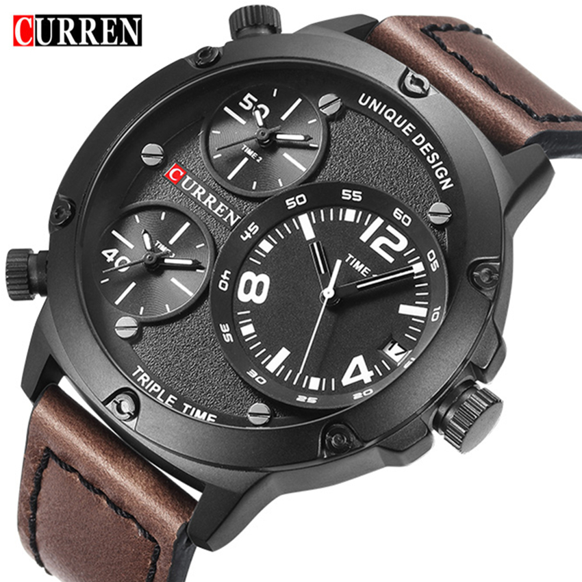 Curren Sport Watch Men Top Brand Luxury Mens Quartz Wrist Watch Casual Waterproof Military Clock Men's Watches Relogio Masculino