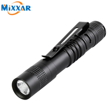 zk90 Outdoor Pocket Portable LED Flashlight Torch Lamp 1 Mode 250LM Pen Light Waterproof Penlight with Pen Clip
