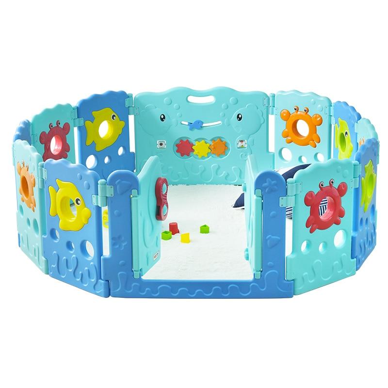 2019 Specialtilbud Cercadinho Baby Playpen Fence Køkken Børne Legetøj Barn Spædbarn Hegn Guardrail Game Protective Toy