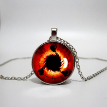 Children's Gifts Naruto Sharingan Shippuuden Eye Pendant Necklace Black Chain Vintage Necklace Men's Necklace Private Custom