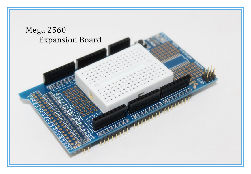 New Prototype Shield Protoshield V3 Expansion Board With Mini Bread Board For Arduino MEGA 2560