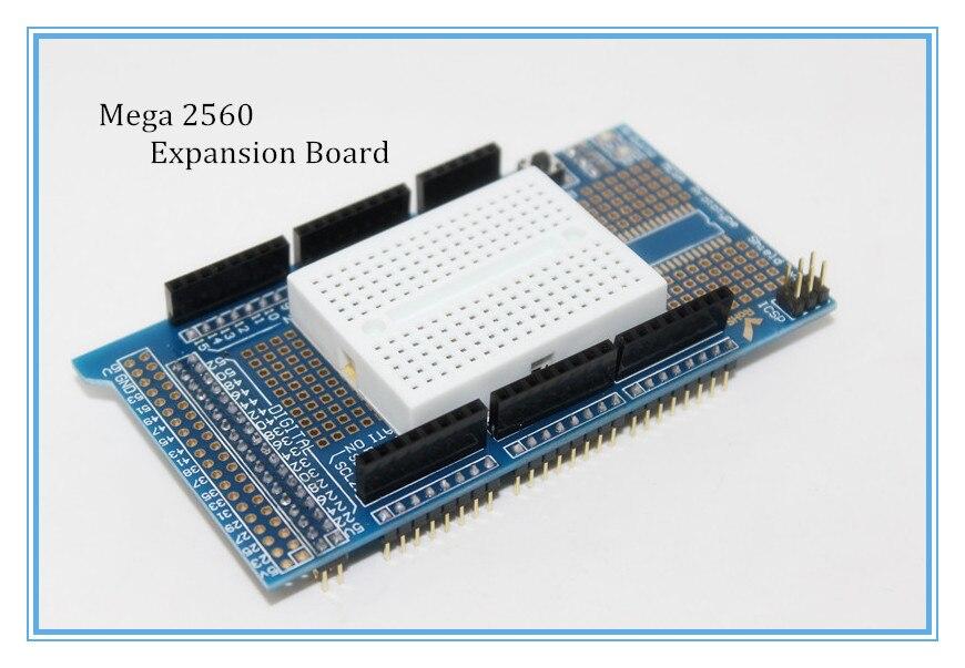 New Prototype Shield Protoshield V3 Expansion Board With Mini Bread Board For Arduino MEGA 2560