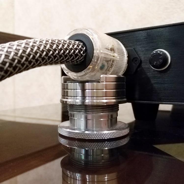 Disque vinyle LP haut-parleurs Audio HIFI réglables câble d'alimentation coussinet Anti-choc amortisseur coussinet d'absorption des vibrations