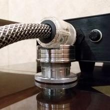 Виниловая пластина LP, регулируемые колонки Hi Fi с аудиокабелем, подставка для кабеля питания, амортизирующая подставка для амортизации вибрации
