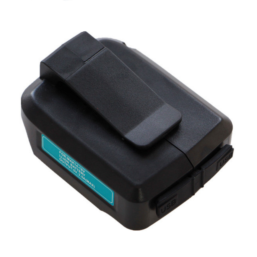 NEW 14.4V <font><b>18V</b></font> Power Tools USB converter charger <font><b>adapter</b></font> for <font><b>Makita</b></font> Li-ion rechargeable batteries LXT Series BL1830 BL1850 BL1430 image