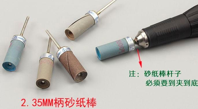 10tk / partii 2,3 / 3mm varre abrasiivne liivapaber liivapaberiga - Elektrilised tööriistad - Foto 3
