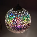 15/20 см 3D красочное покрытие стеклянный зеркальный шар подвесной светильник классический дизайн Светодиодная лампа подвесной светильник Ди...