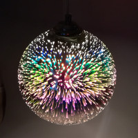15/20cm 3D colorful Plated Glass Mirror Ball hanging light fixture Classic design LED lamp pendant light diameter
