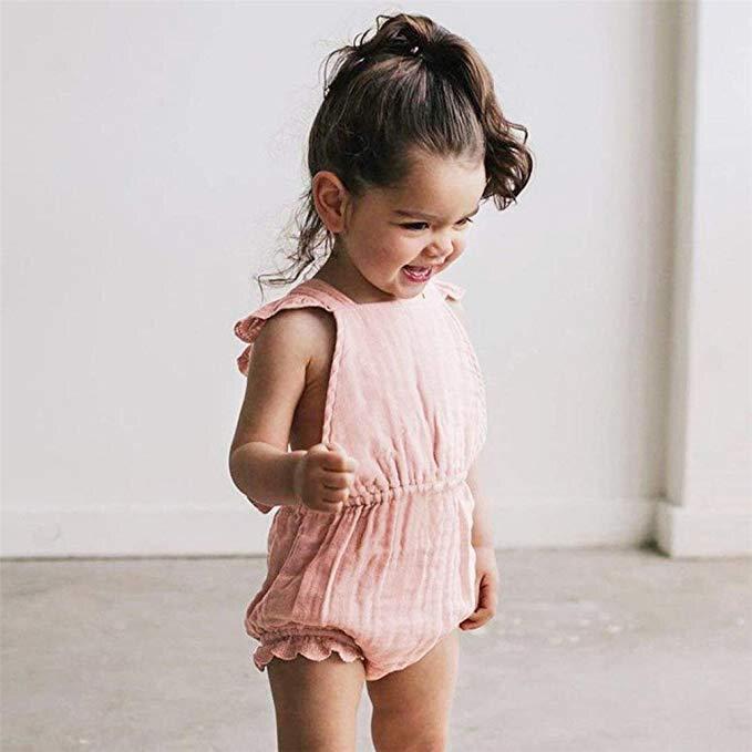 1-3Yrs Neugeborenen Baby Kleidung Säuglings Mädchen Sommer Strampler Kinder Baumwolle Baby Mädchen Sommer Mode Marke Baby Overall Kleidung