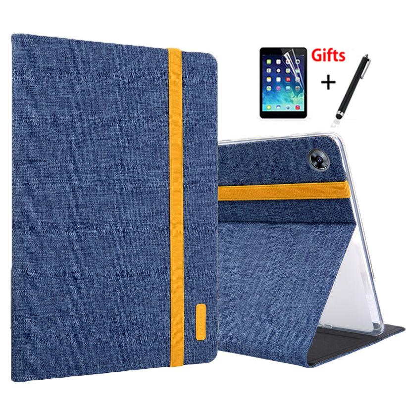 Case For Huawei MediaPad M5 Pro 10 10.8 CMR-AL09 CMR-W09 CMR-W19/AL19 Cover Funda Tablet Silicon+Cloth PU Leather Skin +Film+Pen цена
