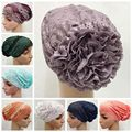 Free Shipping  flower lace cap yoga hat multicolor muslim lace underscarf ,hijab cap