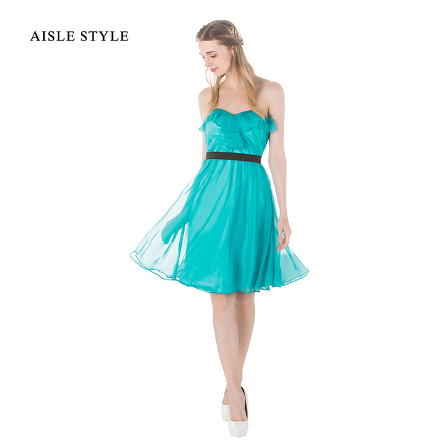 Aisle Style Knee Length Beach Wedding Bridesmaid Dress Short ...