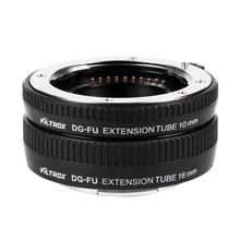 VILTROX DG FU Auto Focus AF Lens Adapter Mount for Fujifilm X Mount Macro Lens Extension Tube Ring 10mm 16mm Set Metal Mount